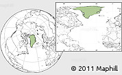 Savanna Style Location Map of Greenland, blank outside