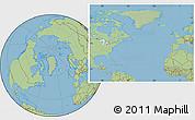 Savanna Style Location Map of Greenland, hill shading inside