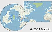 Savanna Style Location Map of Greenland, lighten, land only