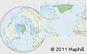 Savanna Style Location Map of Greenland, lighten