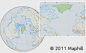 Savanna Style Location Map of Greenland, lighten, semi-desaturated