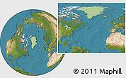 Savanna Style Location Map of Greenland, satellite outside