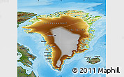 Physical Map of Greenland, darken, land only