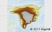 Physical Map of Greenland, lighten