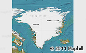 Satellite Map of Greenland
