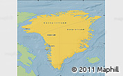 Savanna Style Map of Greenland, single color outside
