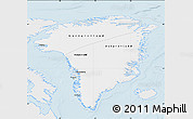 Silver Style Map of Greenland, single color outside