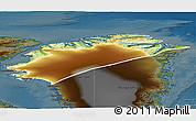 Physical 3D Map of Nordgronland, darken
