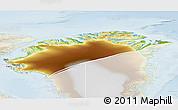 Physical 3D Map of Nordgronland, lighten