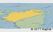 Savanna Style 3D Map of Nordgronland