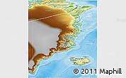Physical 3D Map of Ostgronland