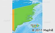 Political 3D Map of Ostgronland