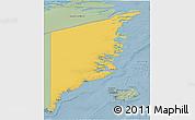 Savanna Style 3D Map of Ostgronland