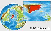 Physical Location Map of Ostgronland