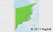 Political Map of Ostgronland, lighten