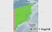 Political Map of Ostgronland, semi-desaturated