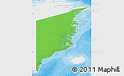 Political Map of Ostgronland, single color outside
