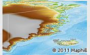 Physical Panoramic Map of Ostgronland