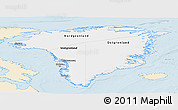 Classic Style Panoramic Map of Greenland, single color outside