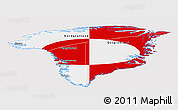 Flag Panoramic Map of Greenland, flag rotated