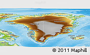 Physical Panoramic Map of Greenland