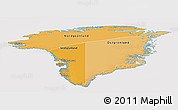 Political Shades Panoramic Map of Greenland, cropped outside