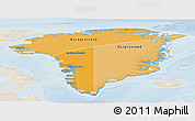 Political Shades Panoramic Map of Greenland, lighten