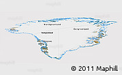 Satellite Panoramic Map of Greenland, cropped outside