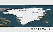 Satellite Panoramic Map of Greenland, darken