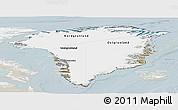 Satellite Panoramic Map of Greenland, lighten