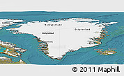 Satellite Panoramic Map of Greenland