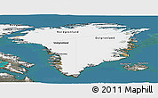 Satellite Panoramic Map of Greenland, semi-desaturated, land only