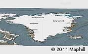 Satellite Panoramic Map of Greenland, semi-desaturated