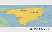 Savanna Style Panoramic Map of Greenland, single color outside
