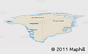 Shaded Relief Panoramic Map of Greenland, cropped outside