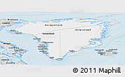 Silver Style Panoramic Map of Greenland