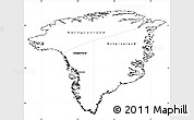 Blank Simple Map of Greenland, cropped outside