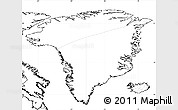 Blank Simple Map of Greenland, no labels