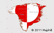 Flag Simple Map of Greenland, flag aligned to the middle