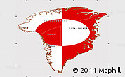 Flag Simple Map of Greenland, flag rotated