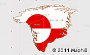 Flag Simple Map of Greenland