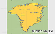 Savanna Style Simple Map of Greenland, cropped outside