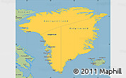 Savanna Style Simple Map of Greenland
