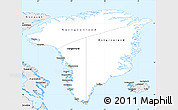 Silver Style Simple Map of Greenland