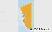 Political Map of Vestgronland, lighten