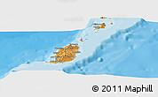 Political Shades Panoramic Map of Grenada