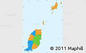 Political Simple Map of Grenada