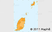 Political Shades Simple Map of Grenada