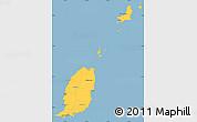 Savanna Style Simple Map of Grenada