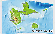 Physical 3D Map of Guadeloupe